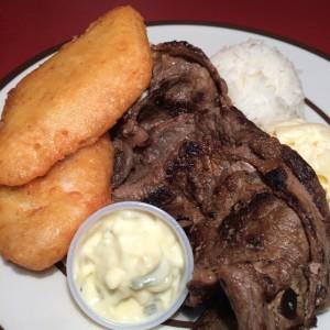 Hapa Plate - Salmon Tempura & Teri Beef
